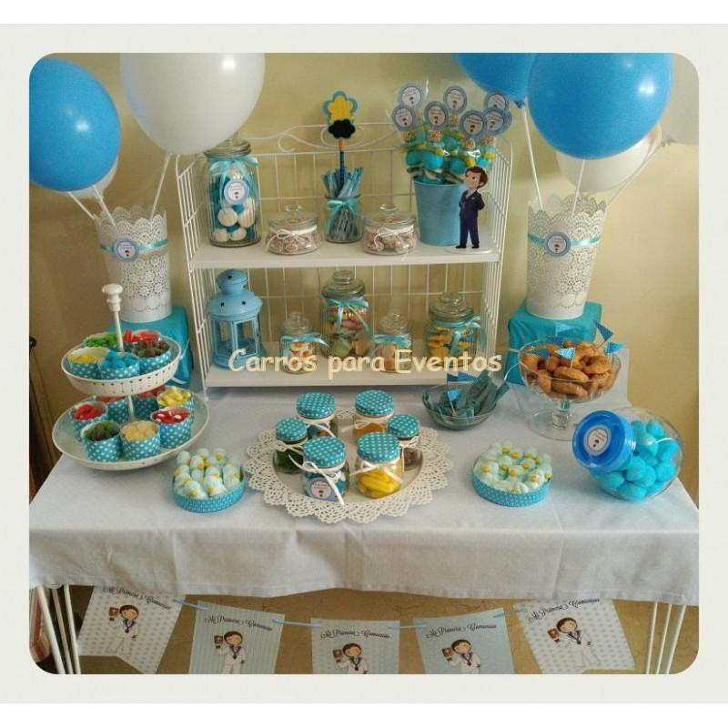Mesas dulces para eventos mesa dulce de bodas comuniones for Mesa dulce para bautismo