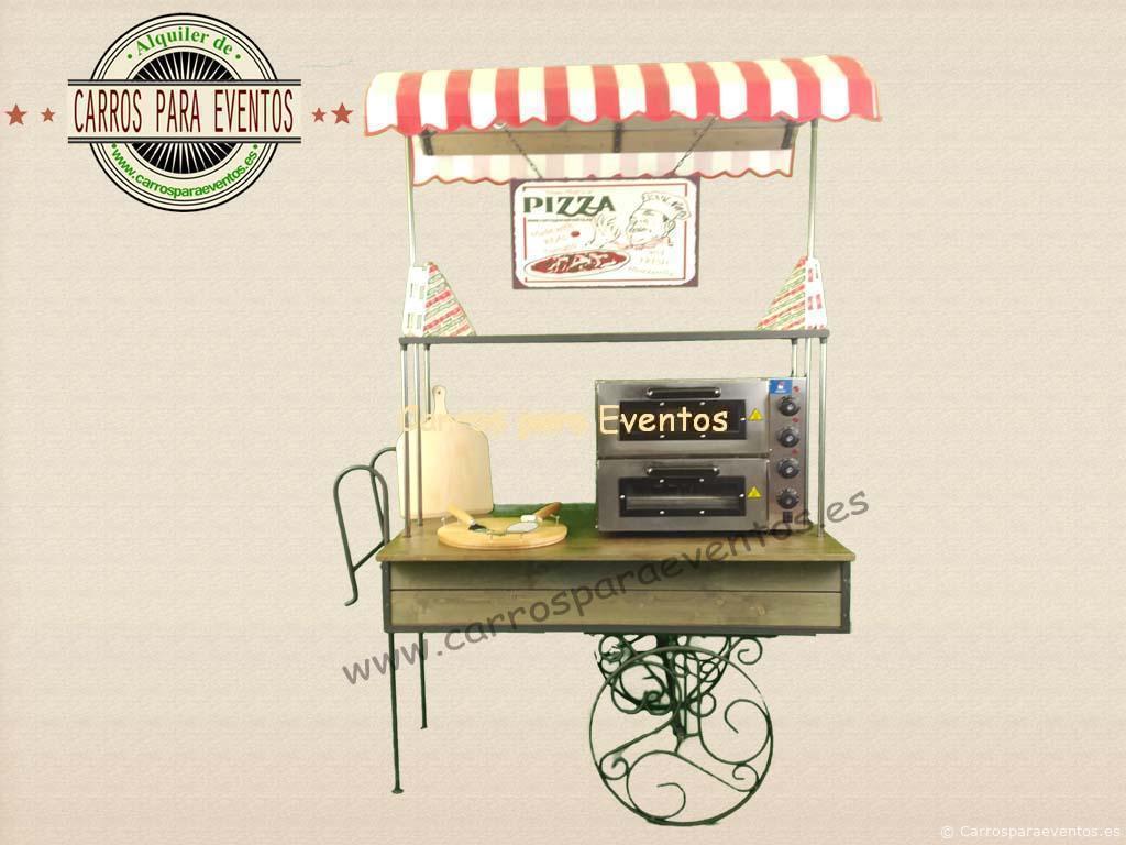 carro madera pizza