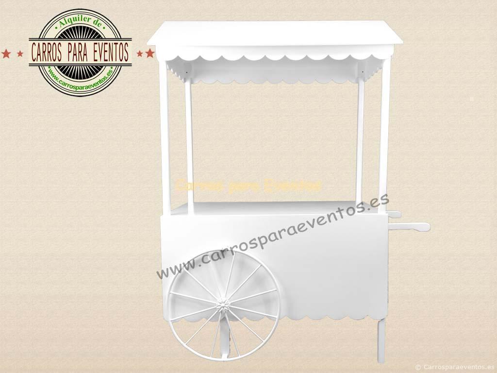 Carro de madera blanco vintage carros para eventos - Lacado de madera ...