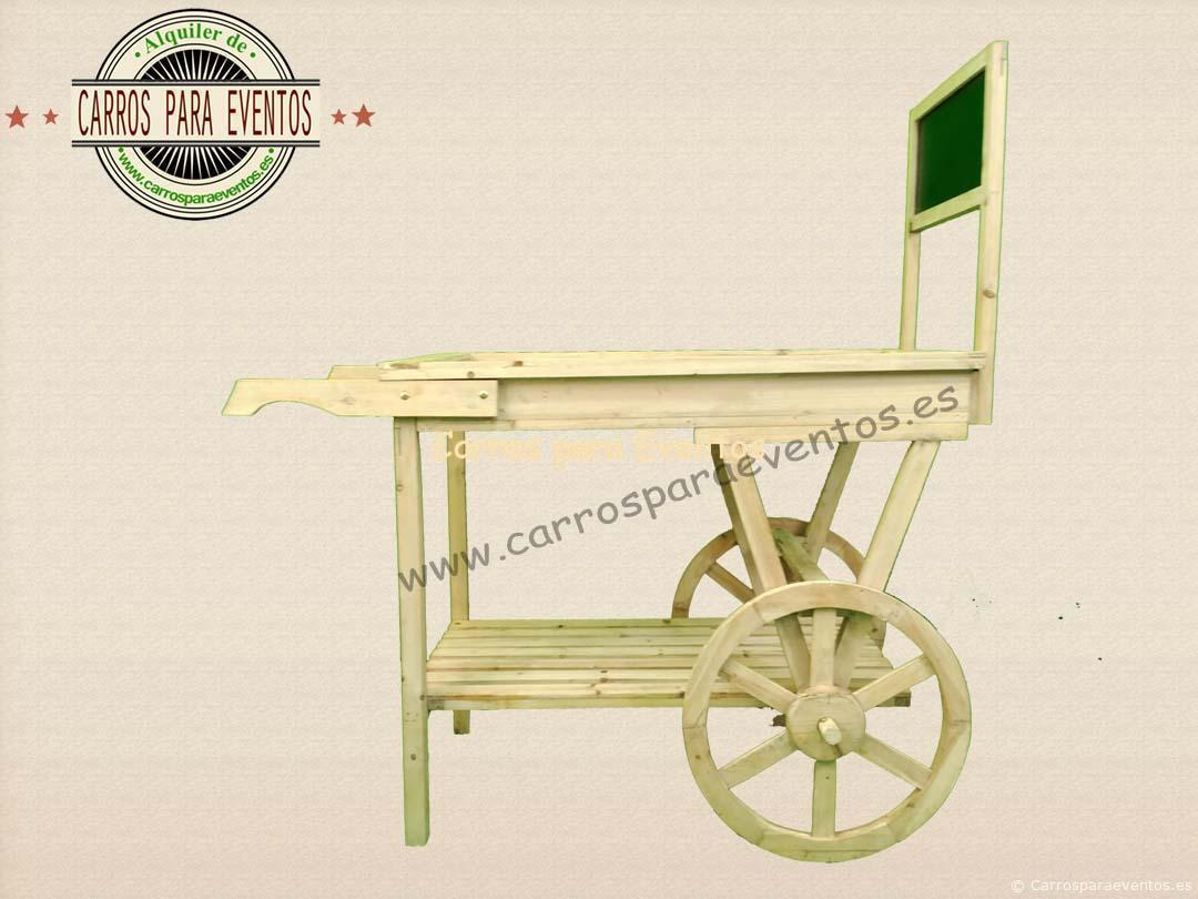 carrito de madera pequeño
