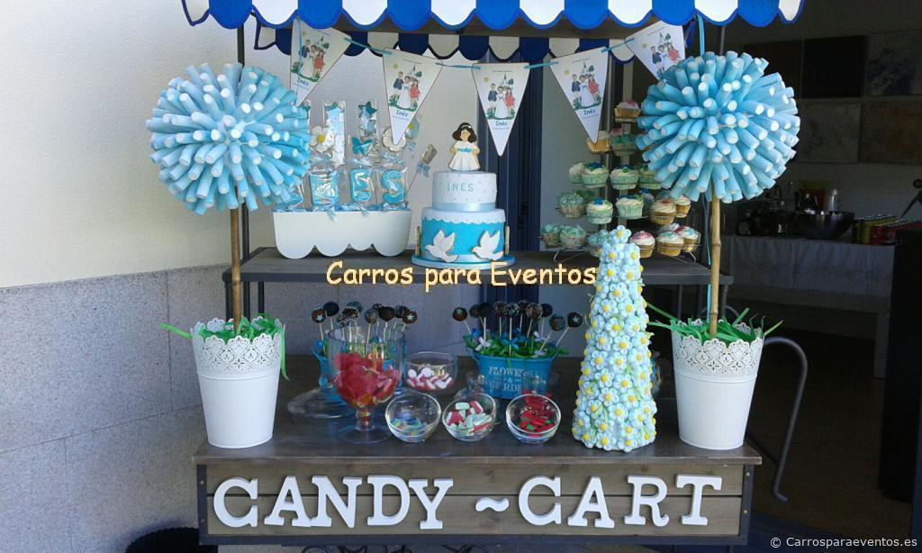 Carro de algod n dulce y carro de madera candy bar for Mini candy bar de madera